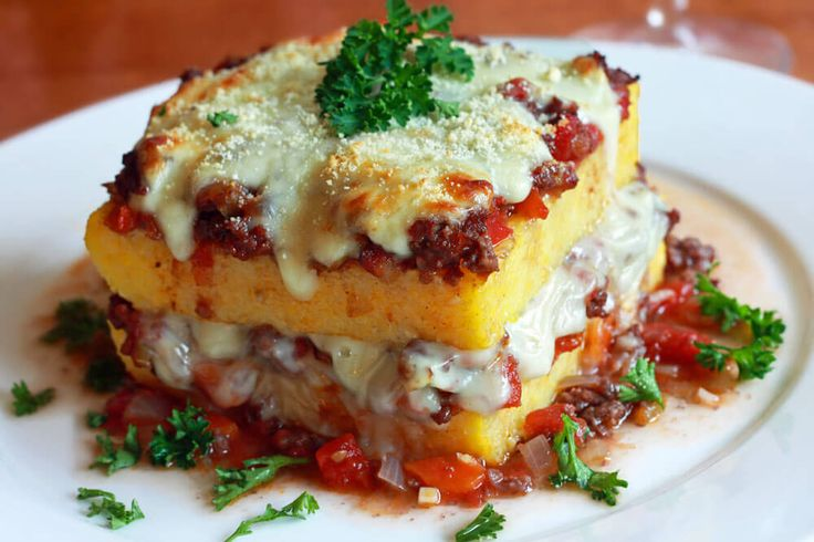"This Polenta ""Lasagna"" casserole from the Campania region of southern Italy is as visually beautiful as it is delicious!"