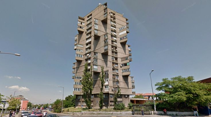 Stambena Kula - Housing - 1963 by Rista Šekerinski, Serbia