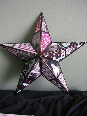 DIY photo star, awesome Christmas Gift Idea!!: Photos, Gift Ideas, Stars, Collage Star, Craft Ideas, Diy, Photo Collages, Christmas Gifts