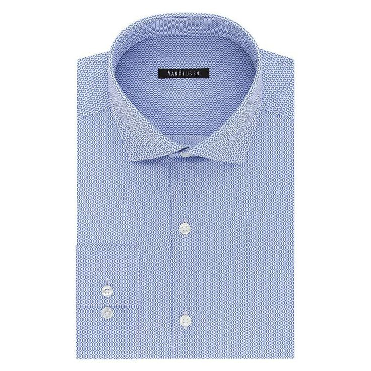 Big & Tall Van Heusen Flex Collar Slim Tall Dress Shirt, Men's, Size: 17.5 35-36, Blue Other