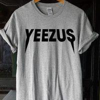 yeezus shirt yeezus t shirt yeezus tshirt yeezus logo shirt yeezus kanye west shirt size S-XL