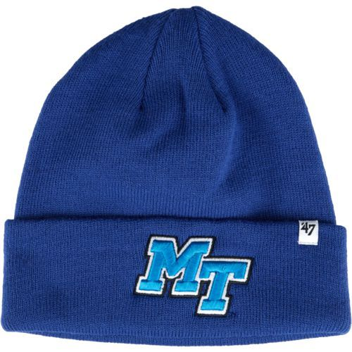 '47 Middle Tennessee State University Raised Cuff Knit Beanie (Blue, Size One Size) - NCAA Licensed Product, NCAA Men's Caps at Academy Sports