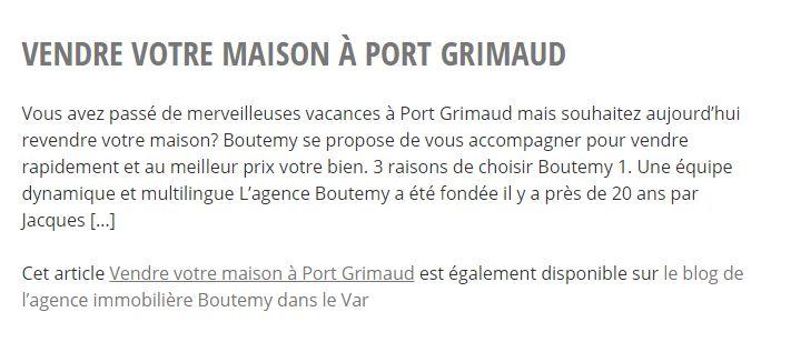 Boutemy Immobilier | Vente et location de maisons, villas et appartements à Port Grimaud (83)