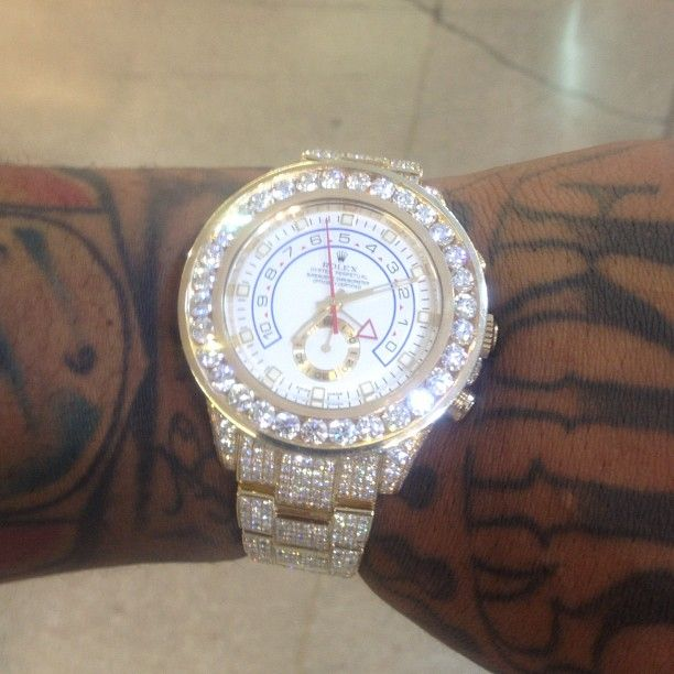 Iced Out Rolex | ... King Tut tomb. You see Waka's Fully iced out Rolex Yacht Master II