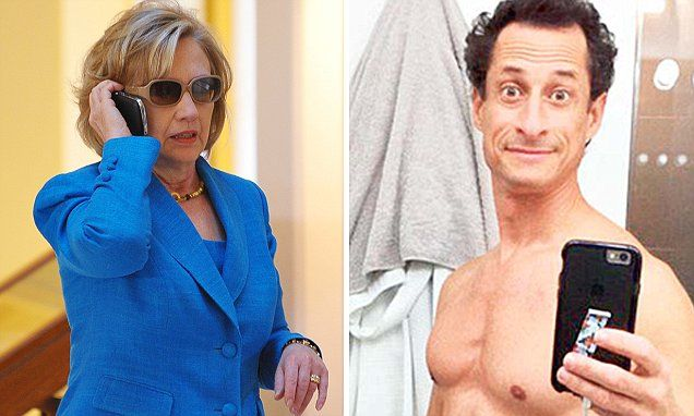 Revealed: Hillar wanted to give secure State Dept cell phone to Anthony Weiner's 'trusted' assistant