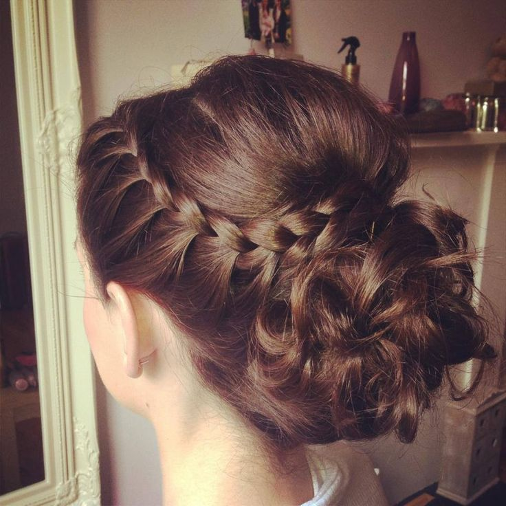 Bridesmaid hair (My edit): My hair wasn't long enough to fully pull it off, but it was still beautiful!