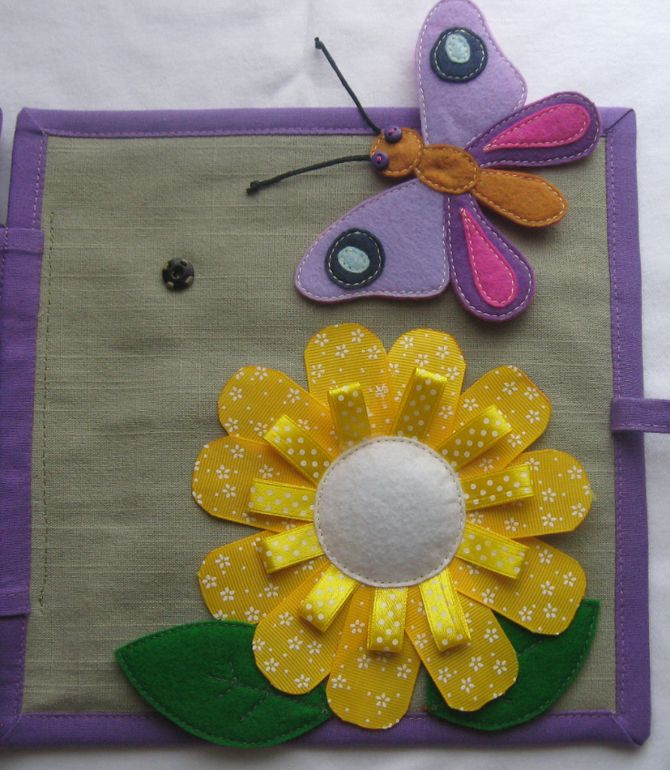 Book for Vikulov -- Cute butterfly and flower