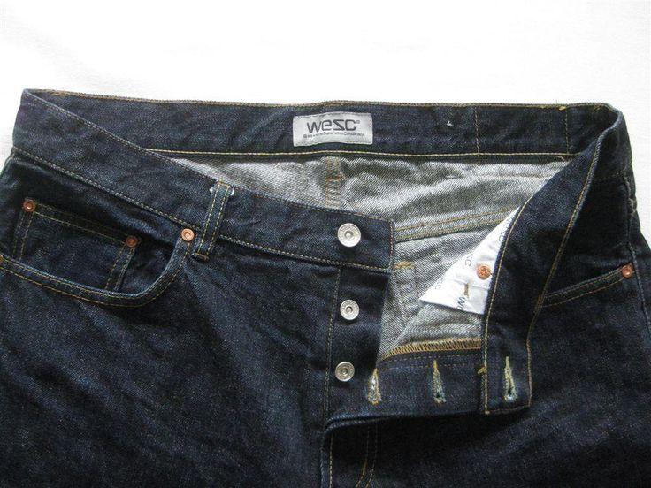 """Mörkblå jeans från WESC, herr stl 36"""" på Tradera.com - Herrjeans"""