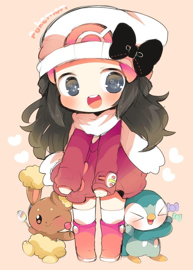 Maya!!! O tamb conocida por Dawn. Esta es una chica a la que le tengo un cariño ENORME. Nací con sus juegos y la serie de Pokémon Diamante y Perla