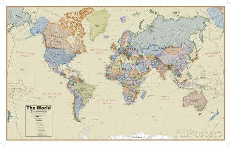 232 best carte du monde images on Pinterest   Cards, Worldmap and ...