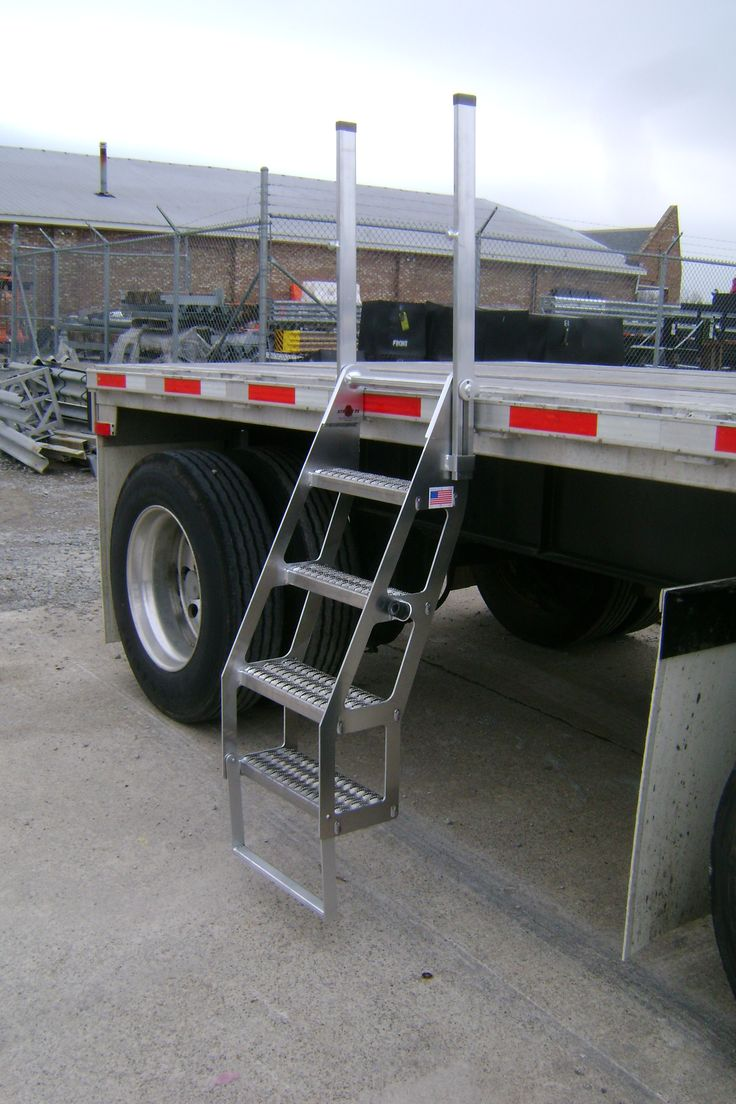 Trailer Safety : Best images about the trucker trailer ladders on pinterest