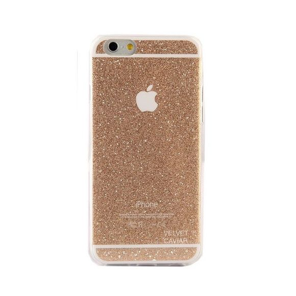 NWOT Velvet Caviar Gold Glitter IPhone 6 Plus case NWOT Velvet Caviar Gold Glitter IPhone 6 Plus case, so cute, used once, perfect condition! Velvet Caviar Accessories Phone Cases