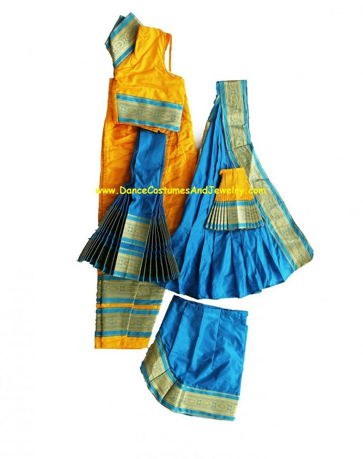 www.DanceCostumesAndJewelry.com - Bharatanatyam dance costume Readymade Yellow and Blue, $ 119.90 (http://www.dancecostumesandjewelry.com/bharatanatyam-dance-costume-readymade-yellow-and-blue/)