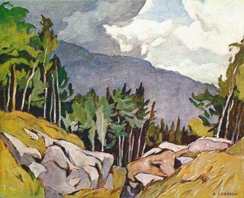 CASSON, A.J. - Canadian artist (1898-1992): -- 'Near Rockingham'.