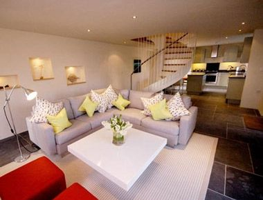 Fresh, funky interiors with stunning architectural features abound at these Cornish barn conversions, blending boutique hotel style and services with the space, privacy and flexibility of a rental.  http://www.babyfriendlyboltholes.co.uk/mesmear_barn-child-friendly-accommodation-18349.htm