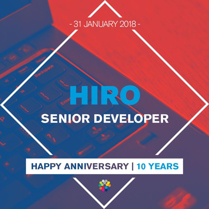We wish you all the best for your 10 year anniversary Hiro! We wish you continued success for many years to come.