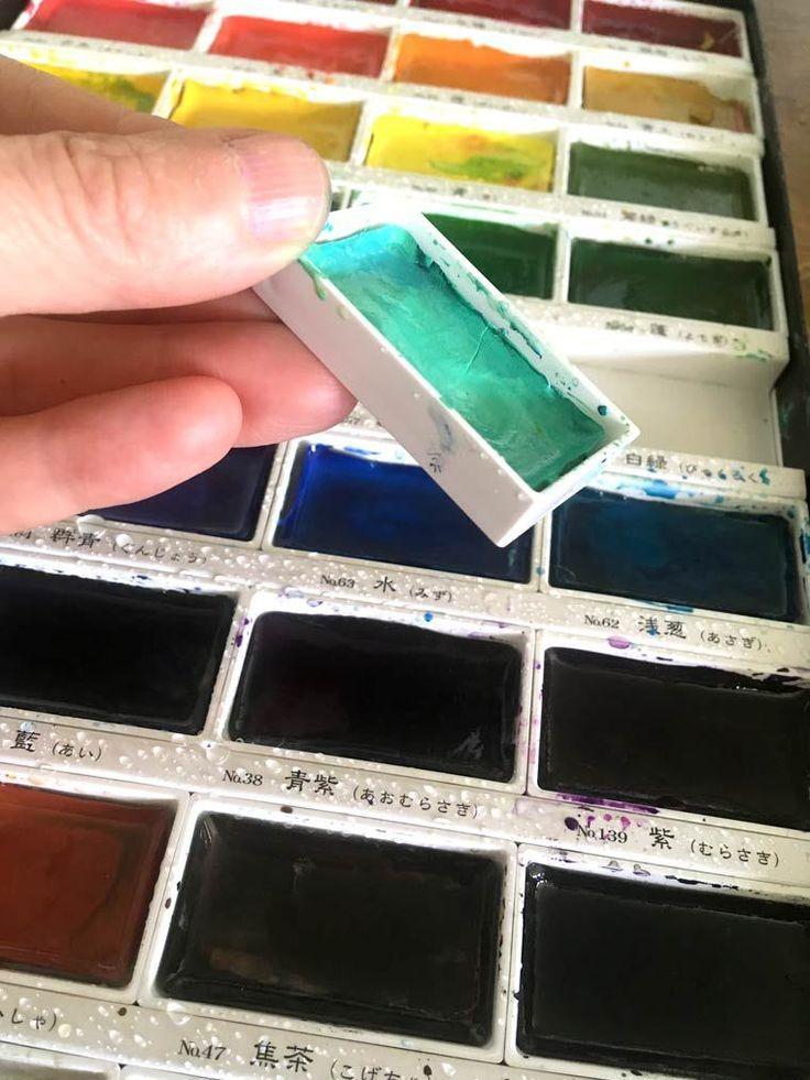 Kuretake Gansai Tambi Watercolor Review Kuretake Gansai Tambi