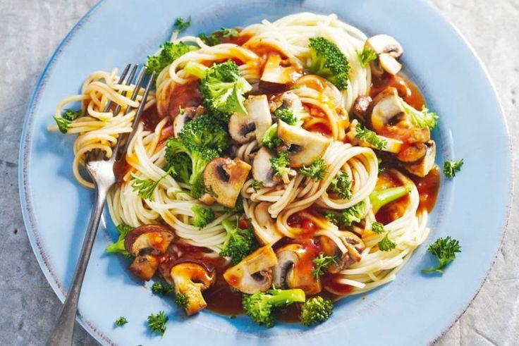 Dagje slank: deze pasta bevat niet zo veel calorieën - Recept - Spaghetti met kastanjechampignons - Allerhande