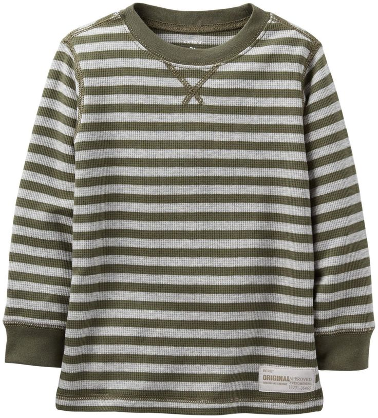 Carter's Baby Boys' Striped Thermal (Baby) - Green - 6 Months. Carter's Striped Thermal (Baby) - Green Carter's is the leading brand of children's clothing, gifts and accessories in America, selling more than 10 products for every child born in the U.S. Their designs are based on a heritage of quality and innovation that has earned them the trust of generations of families.