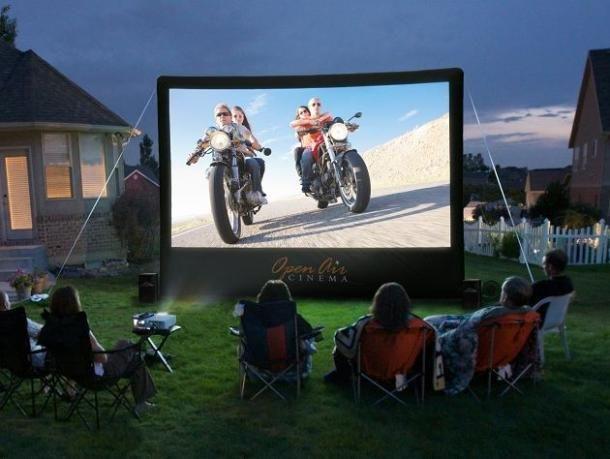 Big yard, big screen, big fun.