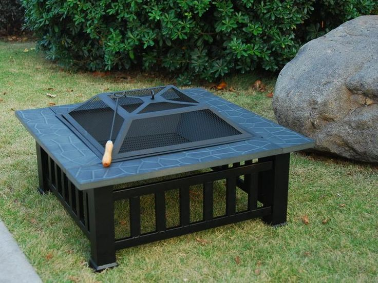 fire pits | Outdoor Square Charcoal Grill Portable Fire Pits | Stroovi