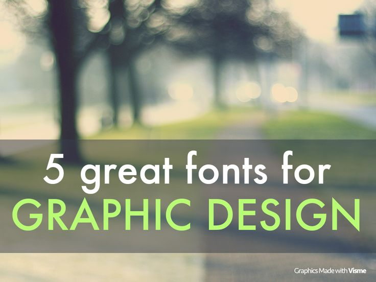 With so many fonts to choose from, it's quite difficult to know which will work best on your visual content. To make things easier for you, here are 5 great fonts for graphic design. #GraphicDesign #VisualContent