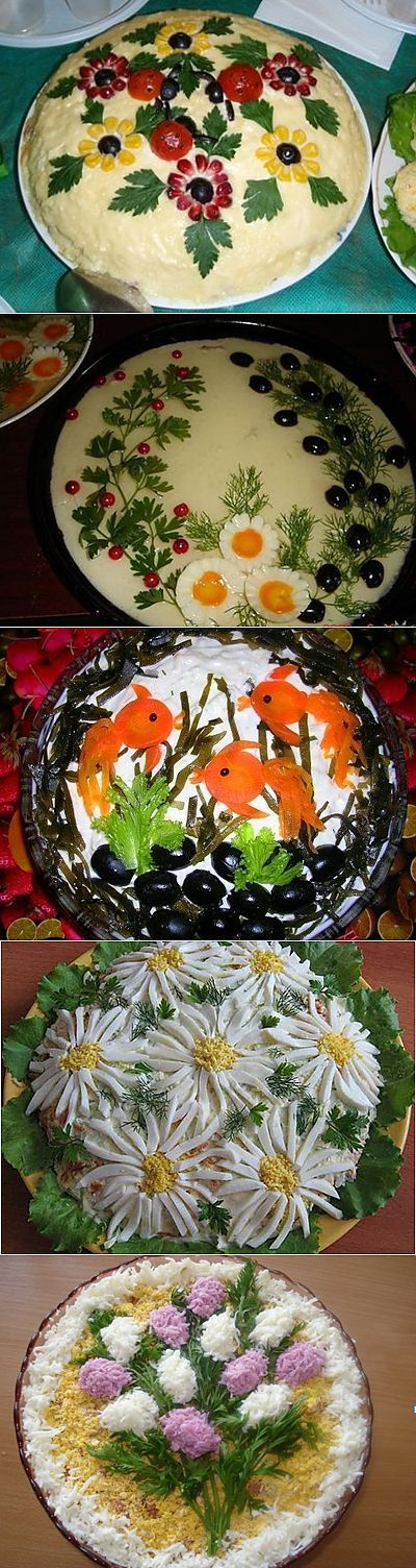 Registration of dishes – decoration of salads   Recipes of my mother