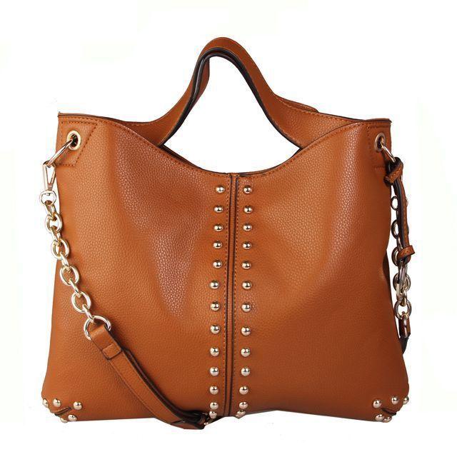 Michael Kors Uptown Astor Large Brown Shoulder Bags #AllAccessKors #NYFW   See more about shoulder bags, michael kors and bags.
