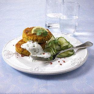 Linsen-Bratlinge mit Gurkensalat (Diät) Rezept