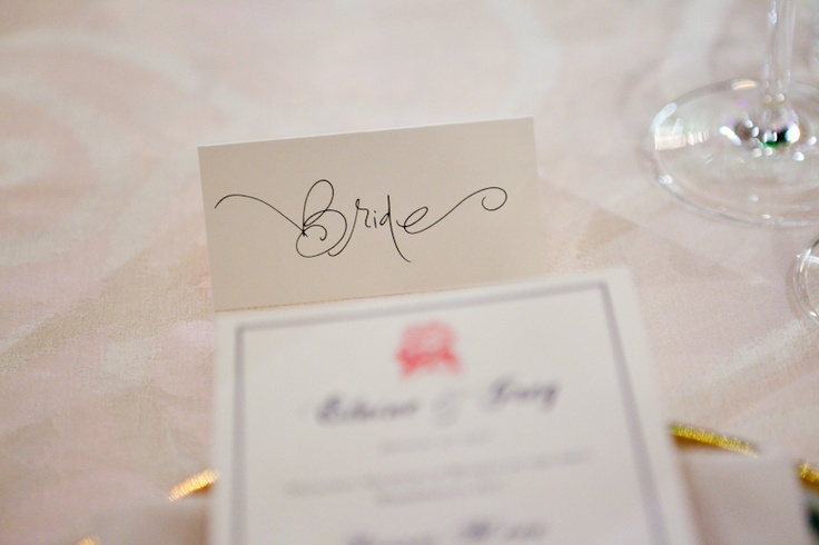 Calligraphy Place Cards Wedding Invitations Stationery