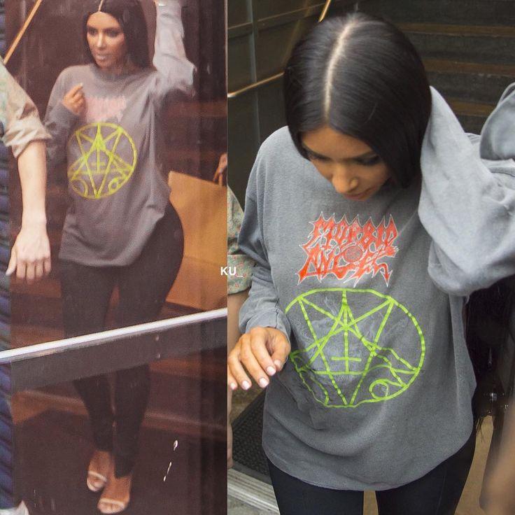 "@kardashianuniverse_ on Instagram: ""Kim out in NYC yesterday."""