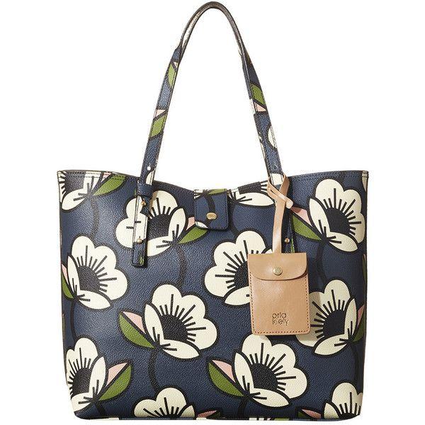 Orla Kiely Passion Flower Tillie Bag ($250) ❤ liked on Polyvore featuring bags, handbags, blue, orla kiely handbags, white handbags, blue purse, hand bags and man bag