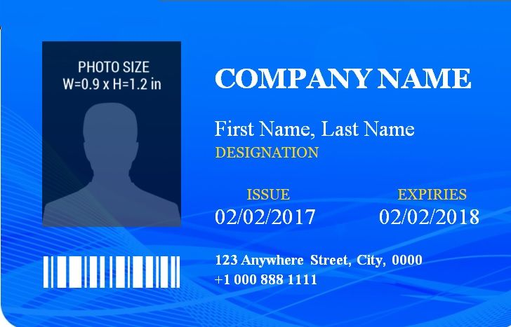 14 free id badge templates word excel pdf templates