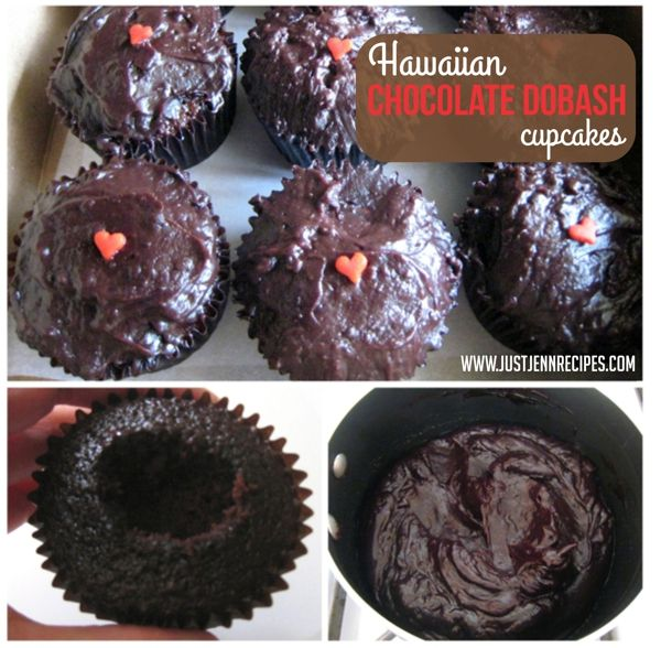 Chocolate Dobash Cupcakes takes the idea of the chocolate chiffon pudding Dobash Cake and puts it into a delightful cupcake bite.