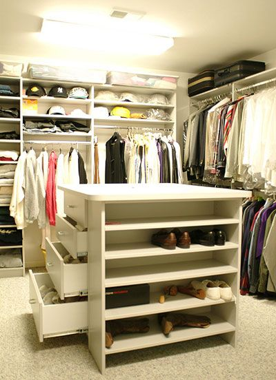 Top 25 ideas about walk in wardrobes on pinterest for Walk in closet with island