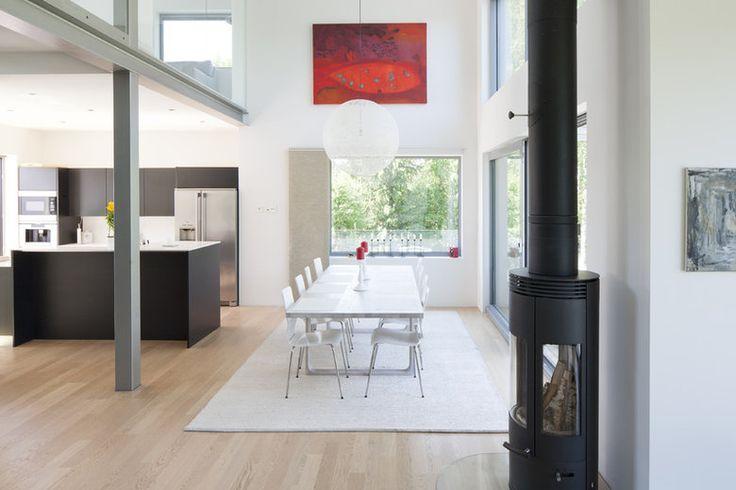 Avointa tilaa ruokailuhuoneessa, lisää ideoita www.lammi-kivitalot.fi
