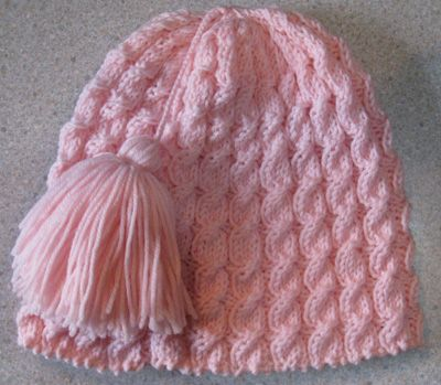Twist Four Mock Cable Stitch Hat - free knitting pattern!