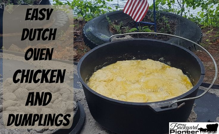 Next time you are camping and you really want to ratchet the level of your food up, give our Dutch Oven Chicken And Dumplings a try! Your fellow campers will be floored at what you can prepare with one pot and some hot coals! Camp Chef Dutch Ovens Are Available On Amazon Dutch Oven Chicken …