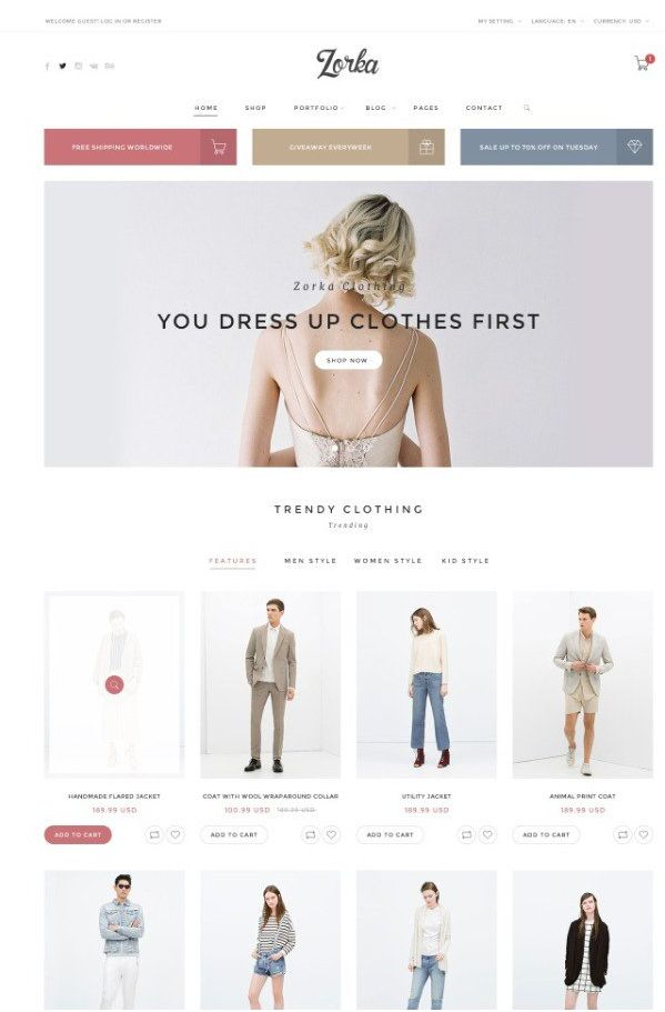 15 Beautiful Free Responsive e commerce Templates