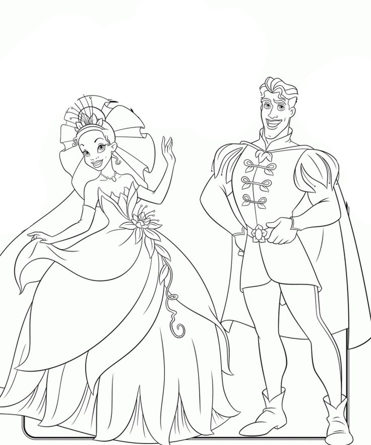 Disney The Princess And The Frog Coloring Page