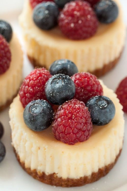 Gluten-Free Mini Cheesecakes are potluck perfect. Everyone will ask for the recipe!