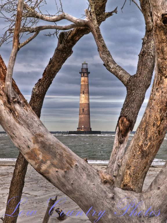 Morris Island Lighthouse at Folly Beach, South Carolina by lowcountryphotos