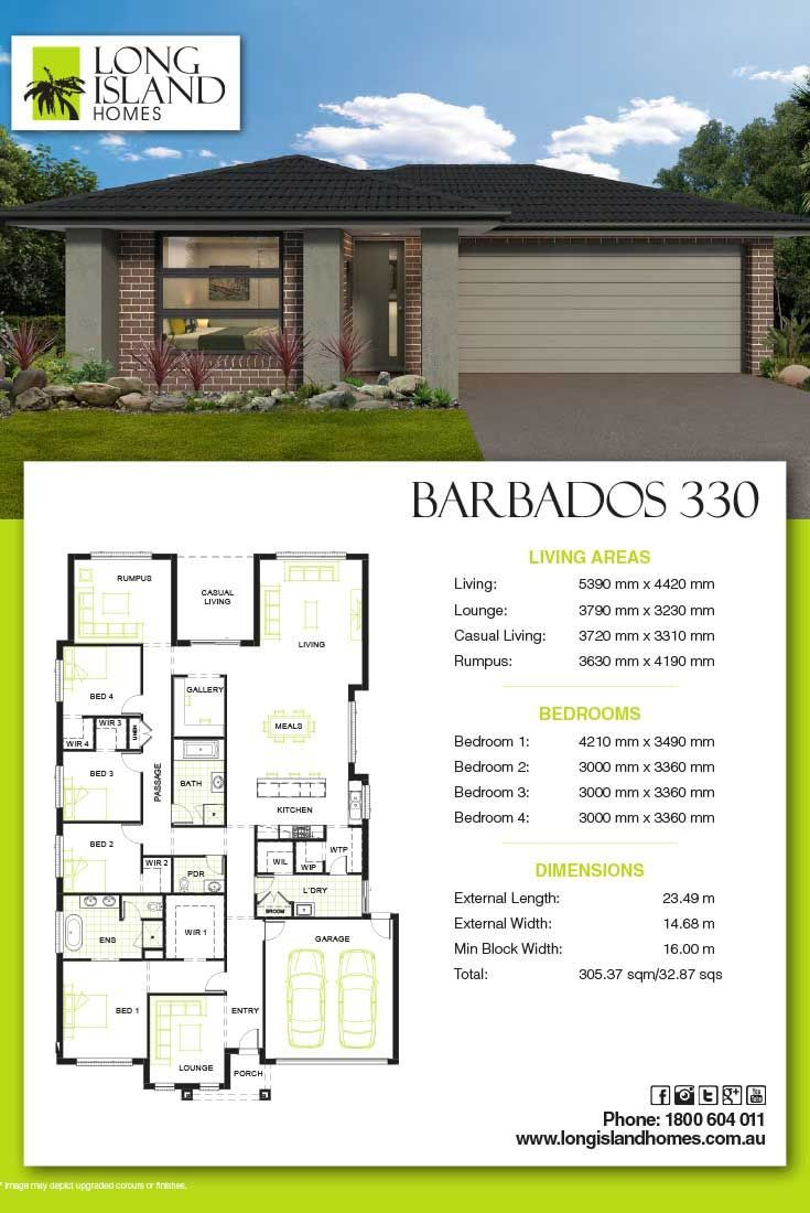 Long Island Homes 2018 Floor Plan Of The Barbados 330 Home Builders Melbourne Modern House Plans House Plans