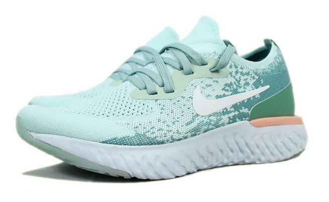 717572076977b New Arrival Nike Epic React Flyknit Mint Green White