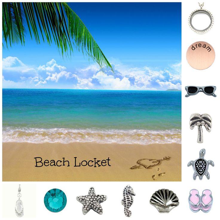 Beach Theme - South Hill Designs Locket
