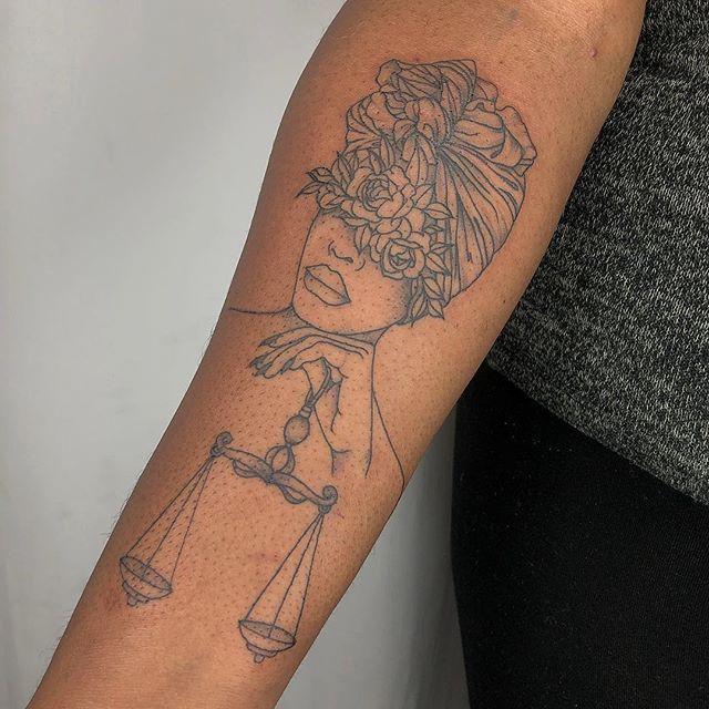 Black girl afro tattoo