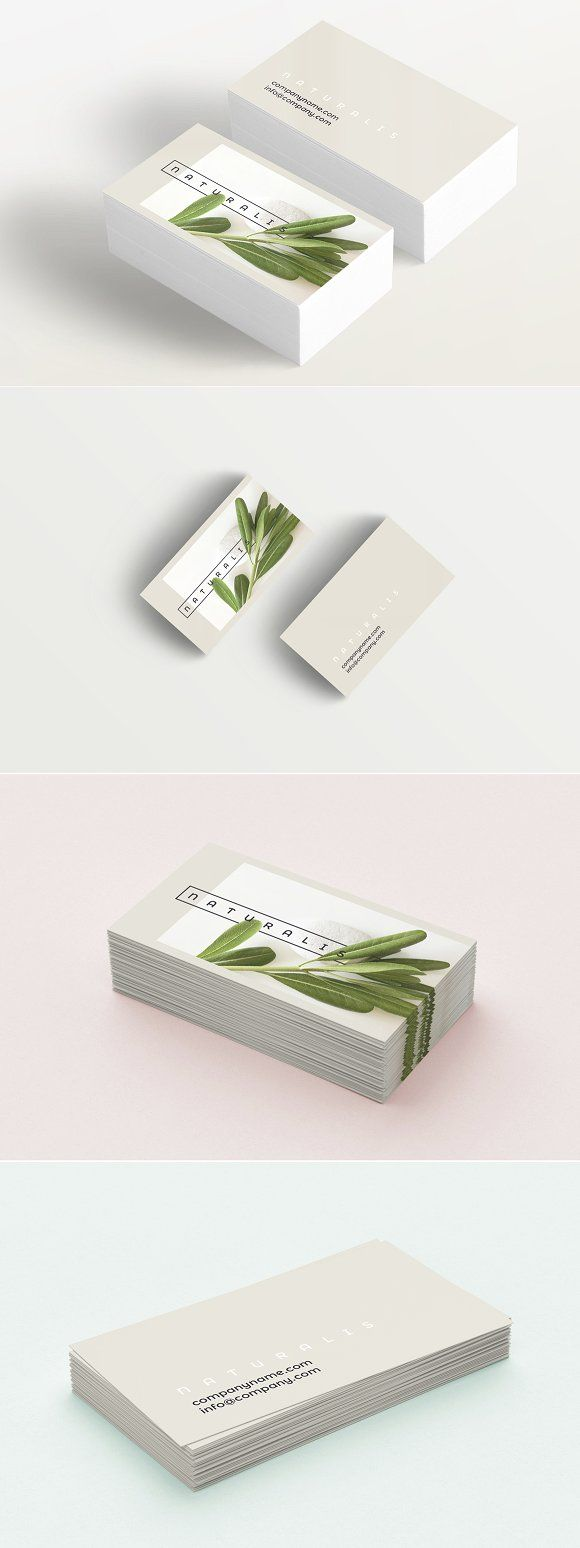 Natural Greens business card by Polar Vectors on @creativemarket