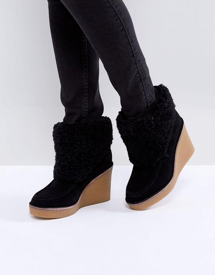 UGG - Coldin - Stiefel mit Keilabsatz - Schwarz Jetzt bestellen unter: https://mode.ladendirekt.de/damen/schuhe/stiefel/sonstige-stiefel/?uid=7ddc42a3-f475-5852-8b25-58b650d61368&utm_source=pinterest&utm_medium=pin&utm_campaign=boards #stiefel #sonstigestiefel #schuhe #female