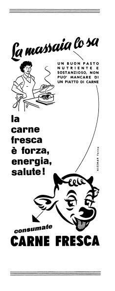 La pubblicità per il consumo di carne fresca negli anni '50  Di Alesmar