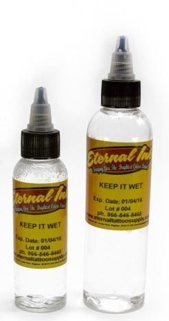 Keep+It+Wet+-+Eternal+Tattoo+Ink+-+Pick+Your+Size+2oz+or+4oz+Bottle+-+Eternal+Tattoo+Ink+– Keep+It+Wet Keep-It-Wet+by+Eternal+is+a+solution+to+help+keep+your+ink+wet.+ It+can+be+used+to+thin+pigments+while+tattooing.+ This+listing+is+for+a+2oz+or+4oz+bottle+of+Keep-It-Wet,+choose+the+size+from+the+drop-down+menu. Eternal+tattoo+ink+is+a+pre-dispersed+ink+manufactured+in+the+USA.+ It+is+a+non-toxic,+glycerol+free,+water-based,+vegan+tattoo+ink.+ You+will+find+all+th